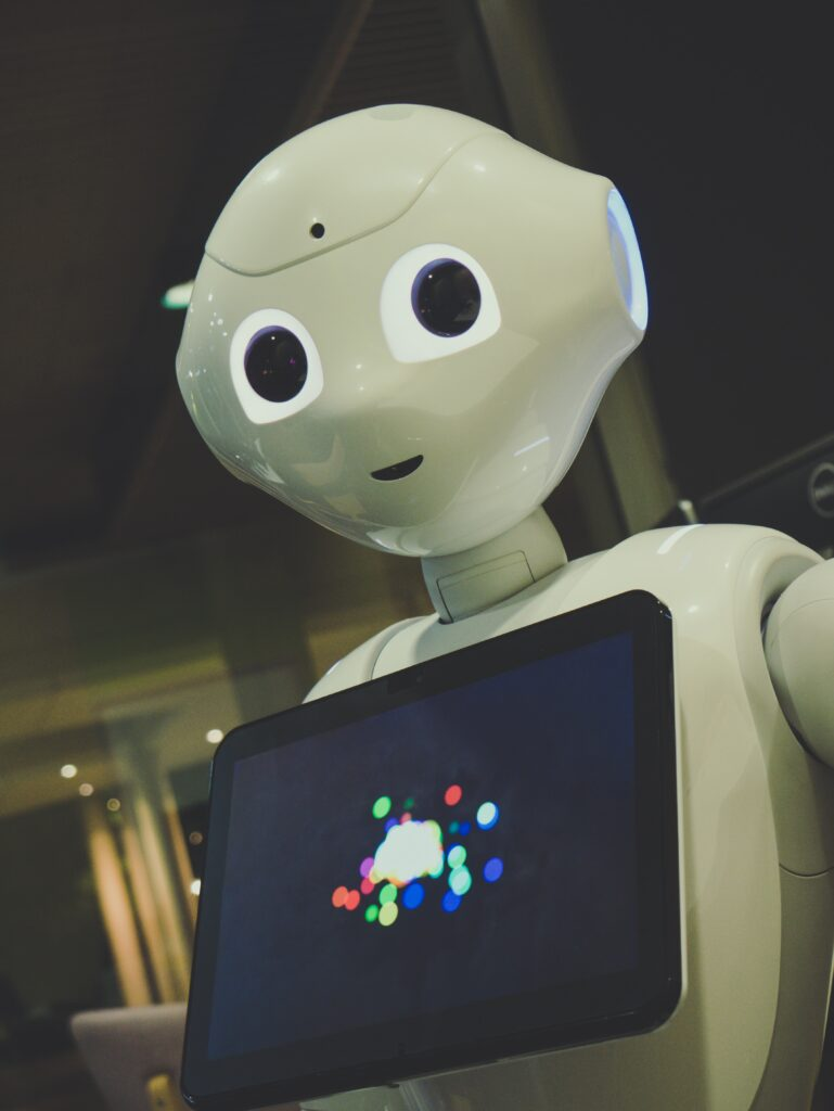 A robot from Japan with a tablet